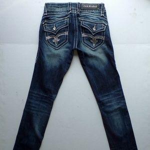 Rock Revival Scarlett Straight Dark Jeans 25x34